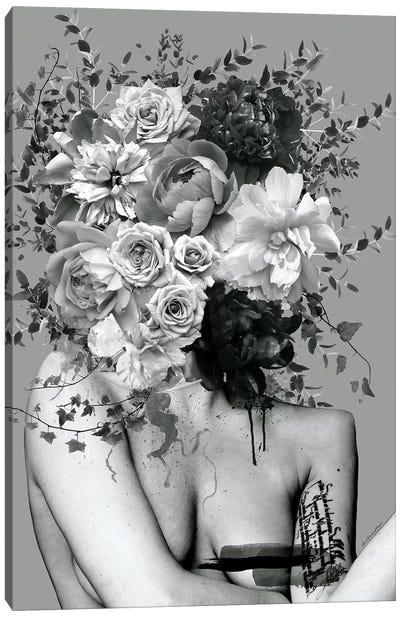 Lady Black And White Canvas Art Print