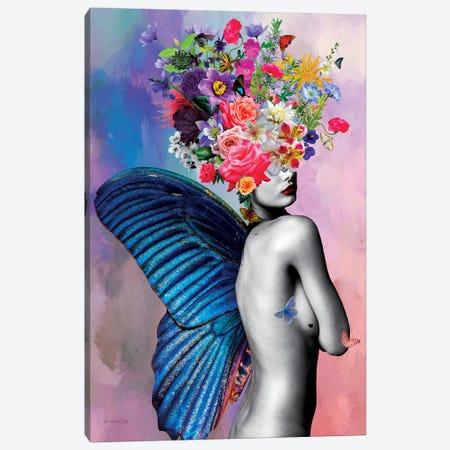 Amora Flowers Canvas Print #APH3} by Ana Paula Hoppe Canvas Artwork