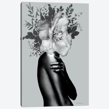 Lady Grey Canvas Print #APH40} by Ana Paula Hoppe Canvas Wall Art