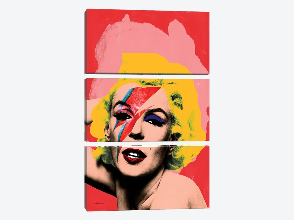 Marilyn Bowie by Ana Paula Hoppe 3-piece Art Print