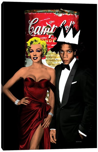 Monroe & Basquiat Canvas Art Print