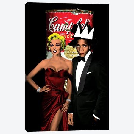 Monroe & Basquiat Canvas Print #APH49} by Ana Paula Hoppe Canvas Wall Art