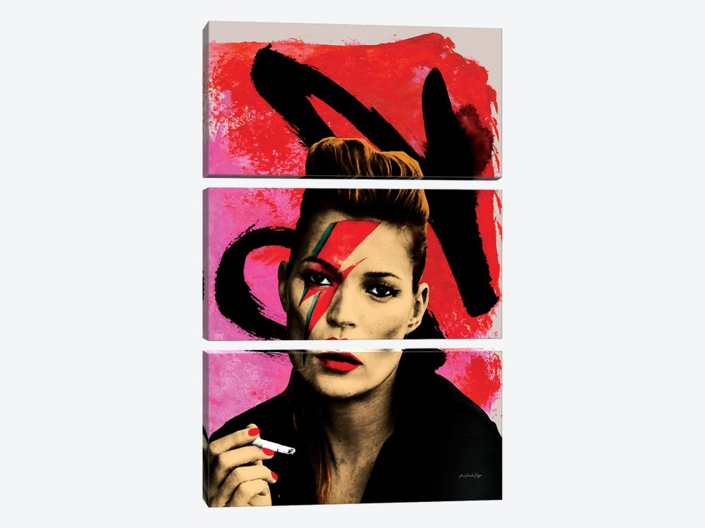 Moss Bowie by Ana Paula Hoppe 3-piece Canvas Artwork
