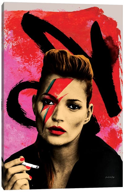 Moss Bowie Canvas Art Print