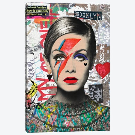 Twiggy Street Art Canvas Print #APH59} by Ana Paula Hoppe Canvas Art Print