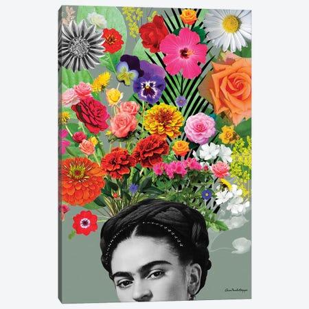 Frida & Flor Canvas Print #APH62} by Ana Paula Hoppe Canvas Wall Art