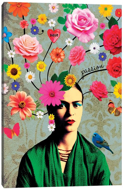 Frida Passion Canvas Art Print