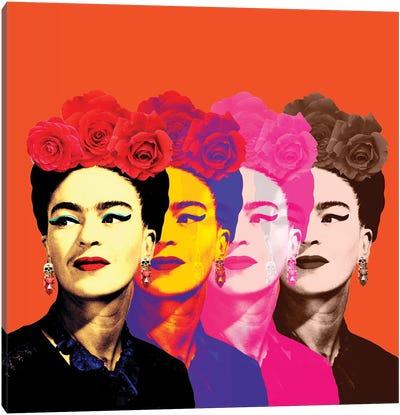 Fridas Orange Canvas Art Print