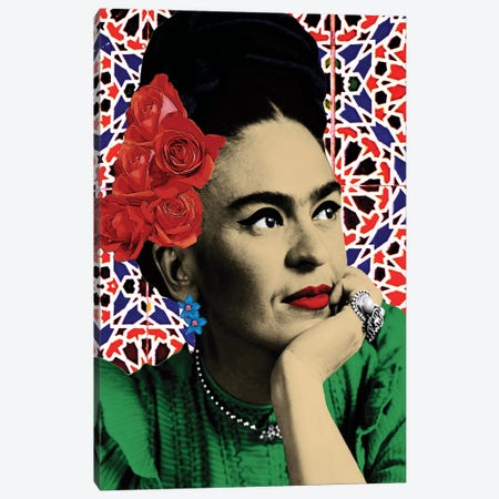 Magdalena Carmen Frida Kahlo Y Calderon 3-Piece Canvas #APH68} by Ana Paula Hoppe Canvas Art