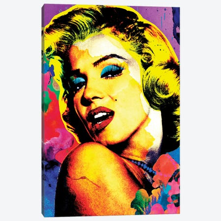 Marilyn Pop Art Canvas Print #APH69} by Ana Paula Hoppe Canvas Artwork