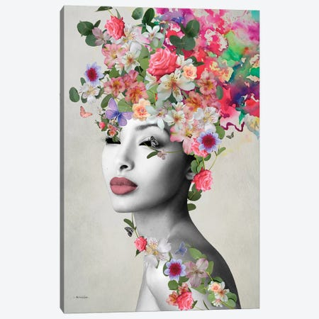 Mikka Rosa Canvas Print #APH79} by Ana Paula Hoppe Canvas Print