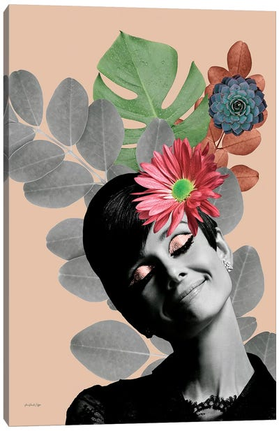 Audrey Rosé Canvas Art Print
