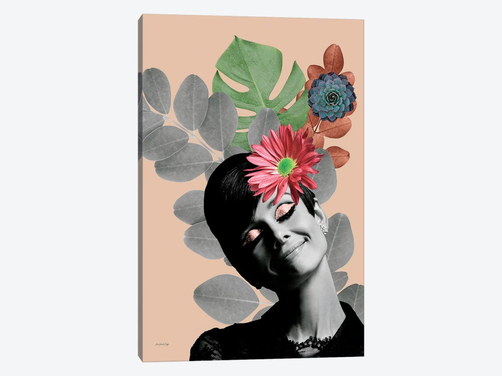 Audrey Rosé 1-piece Canvas Print