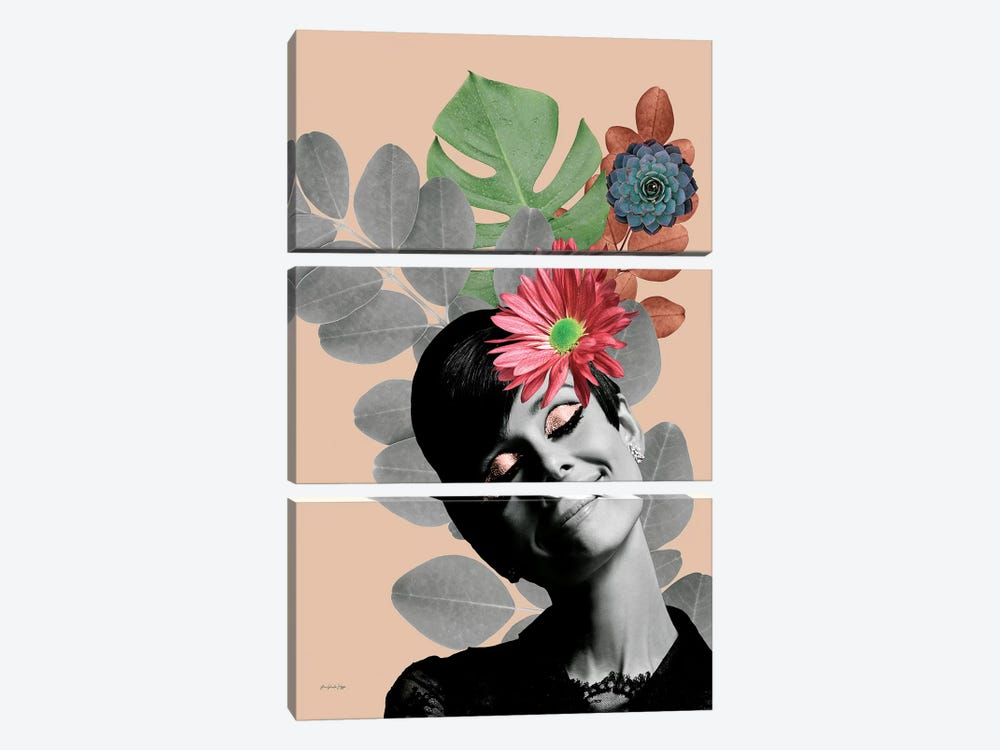 Audrey Rosé 3-piece Canvas Print