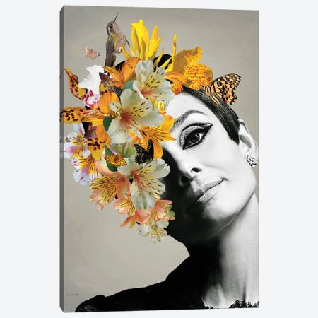 Audrey Yellow Canvas Print #APH87} by Ana Paula Hoppe Canvas Print