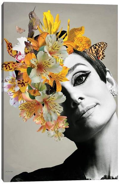 Audrey Yellow Canvas Art Print
