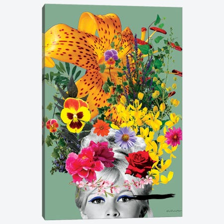 Bardot Flowers Canvas Print #APH9} by Ana Paula Hoppe Canvas Art