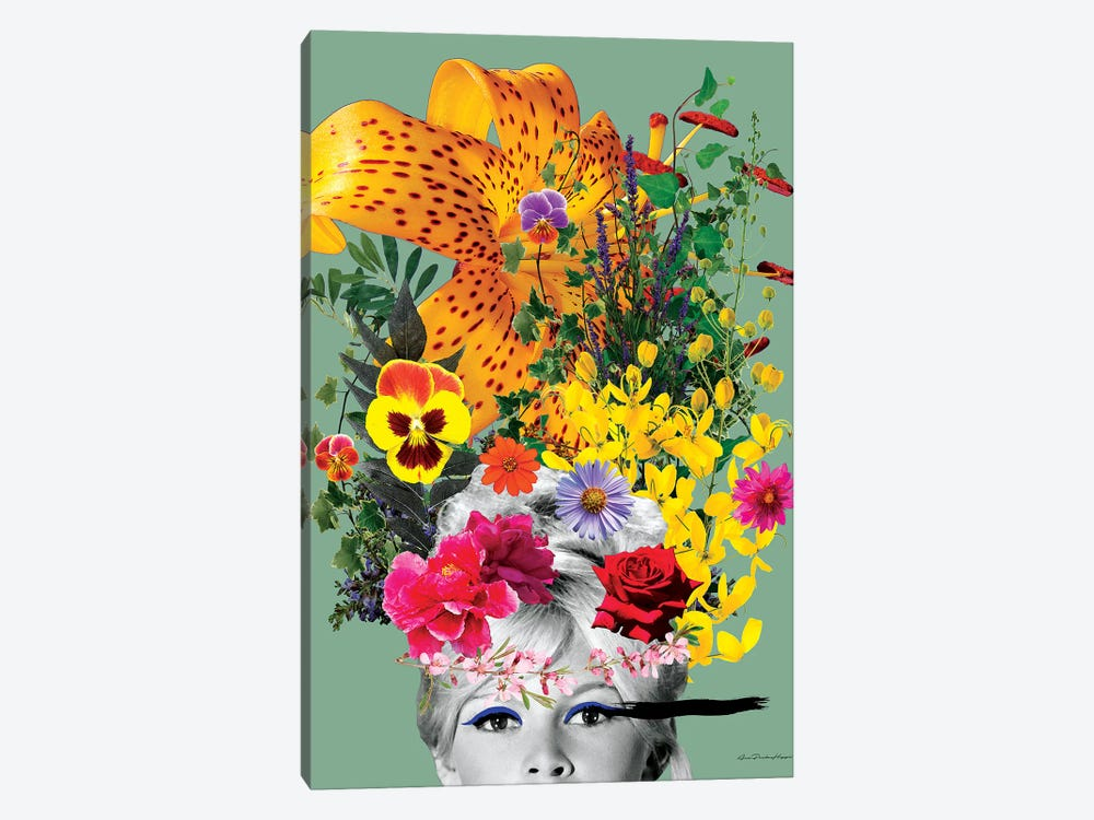 Bardot Flowers by Ana Paula Hoppe 1-piece Canvas Art Print