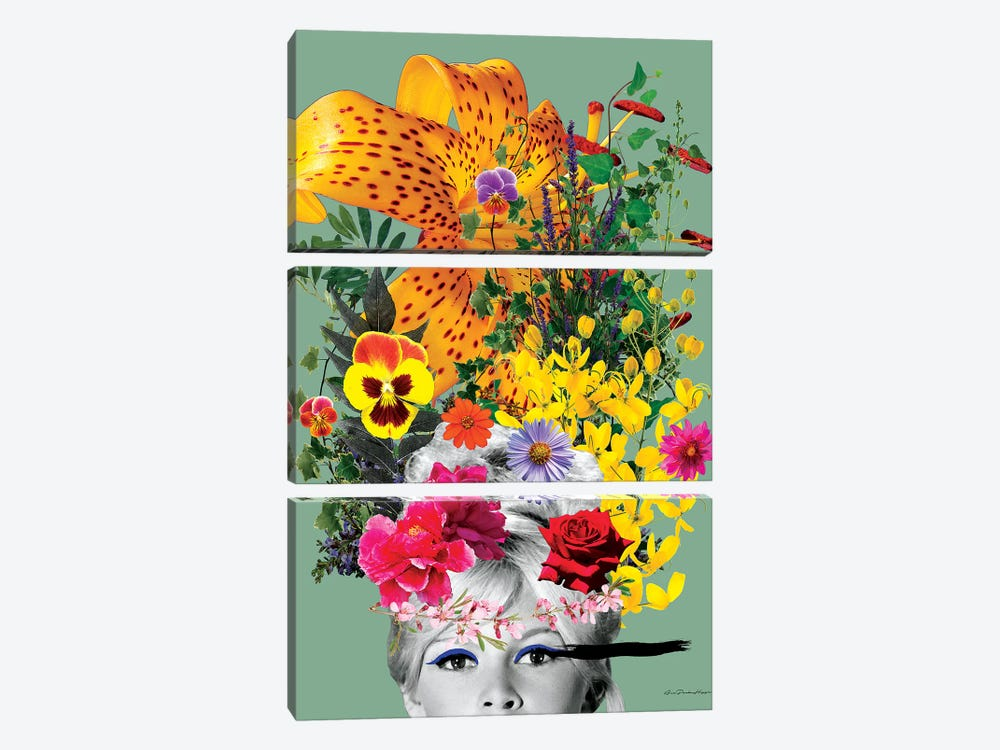 Bardot Flowers by Ana Paula Hoppe 3-piece Art Print
