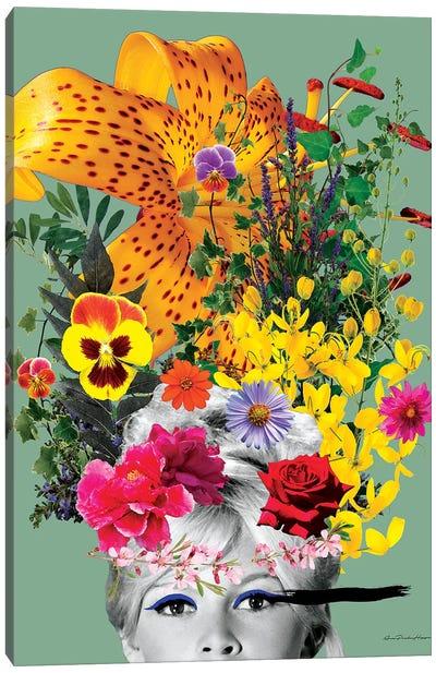 Bardot Flowers Canvas Art Print