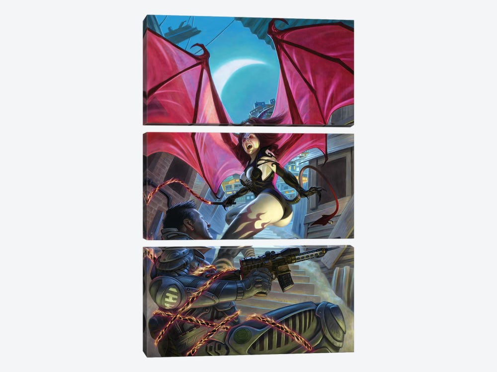 Bloodlines by Alan Pollack 3-piece Canvas Print