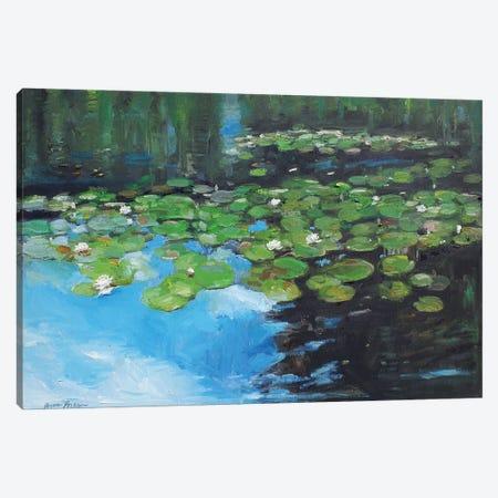 Marsh Lilies Canvas Print #APM11} by Arun Prem Canvas Art