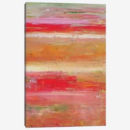 Pink Sunset Canvas Print #APM14} by Arun Prem Art Print