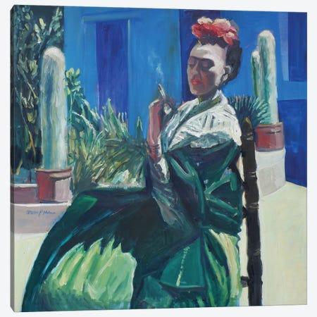 Blue Smoke Canvas Print #APM2} by Arun Prem Art Print