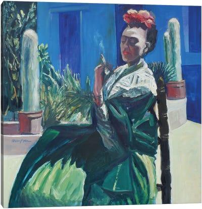 Blue Smoke Canvas Art Print