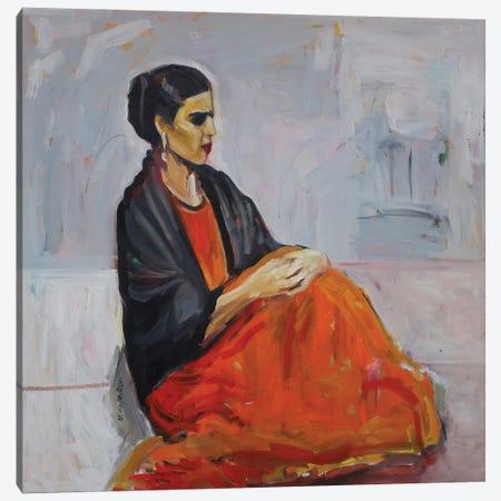 Frida Alone Canvas Print #APM5} by Arun Prem Canvas Art