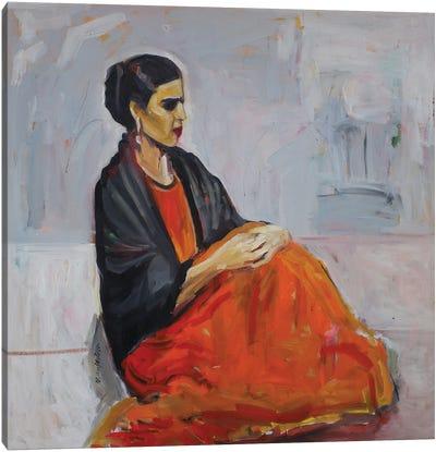 Frida Alone Canvas Art Print