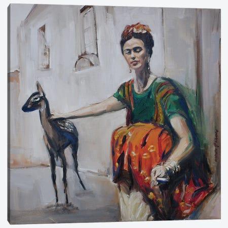 Frida And Granizo Canvas Print #APM6} by Arun Prem Canvas Wall Art