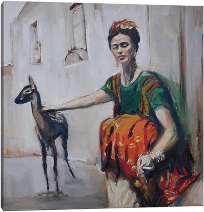 Frida And Granizo Canvas Art Print