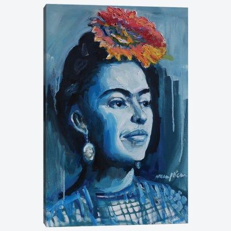 Frida Looking Canvas Print #APM7} by Arun Prem Canvas Wall Art