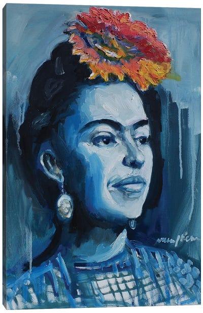Frida Looking Canvas Art Print