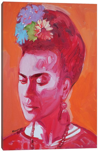 Frida Looking In Canvas Art Print