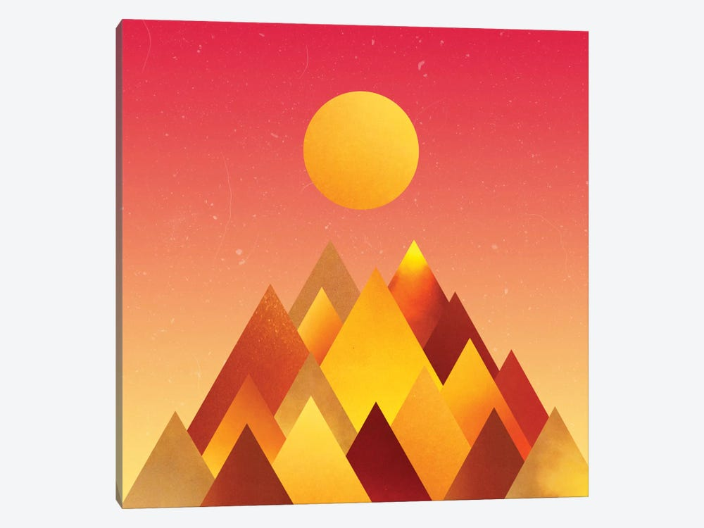 Hot Mountains II by Adam Priester 1-piece Canvas Print