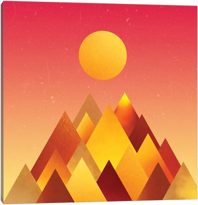 Hot Mountains II Canvas Art Print