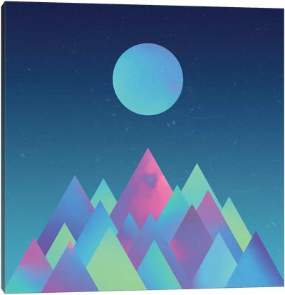 Moon Mountains Canvas Art Print