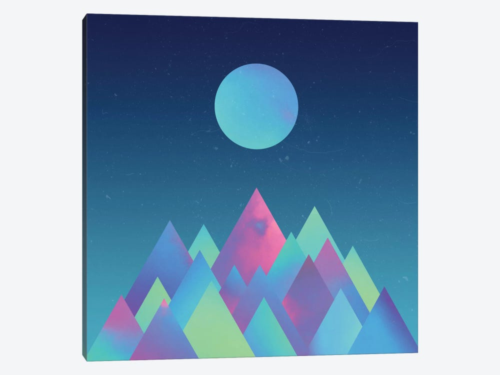 Moon Mountains 1-piece Canvas Wall Art