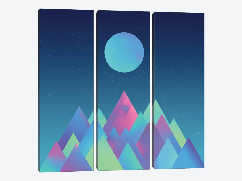 Moon Mountains by Adam Priester 3-piece Canvas Artwork
