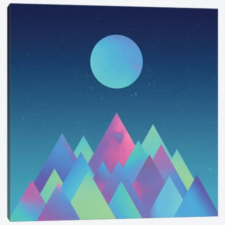 Moon Mountains Canvas Print #APR60} by Adam Priester Canvas Artwork