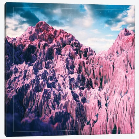 Pink Mountains Canvas Print #APR71} by Adam Priester Art Print