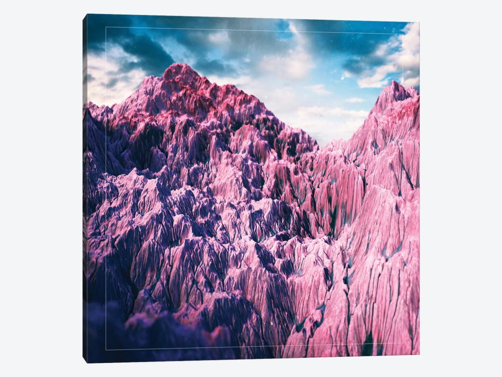 Pink Mountains by Adam Priester 1-piece Canvas Art
