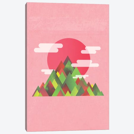 Pink Peaks Canvas Print #APR72} by Adam Priester Canvas Art Print