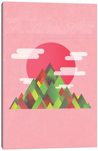 Pink Peaks Canvas Art Print