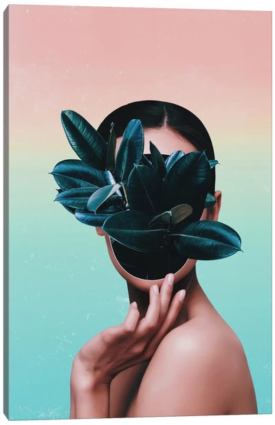 Plant Face Canvas Art Print
