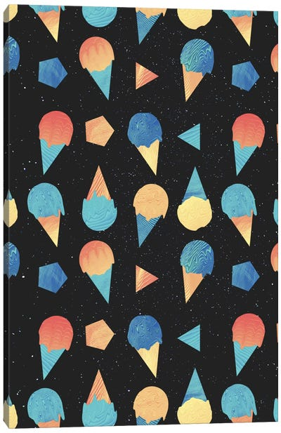 Space Cream Canvas Print #APR83