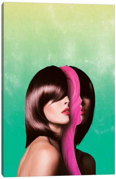 Split Hairs Canvas Art Print