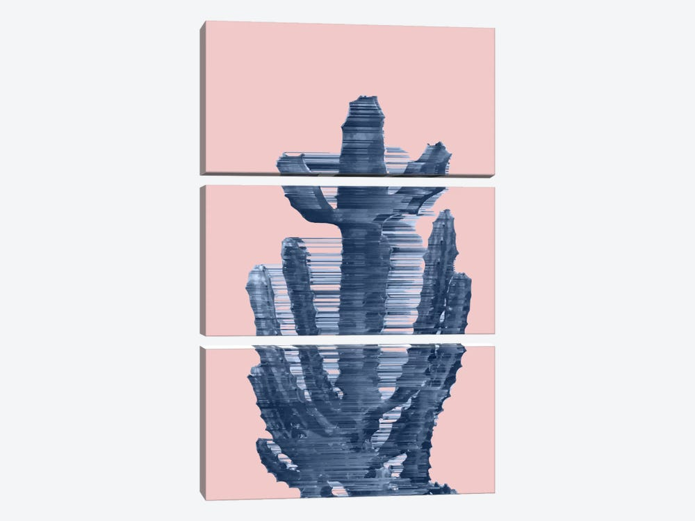 Totally Trendy Cactus by Adam Priester 3-piece Canvas Art Print